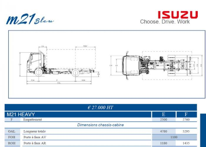 Catalogue Isuzu M21 Heavy
