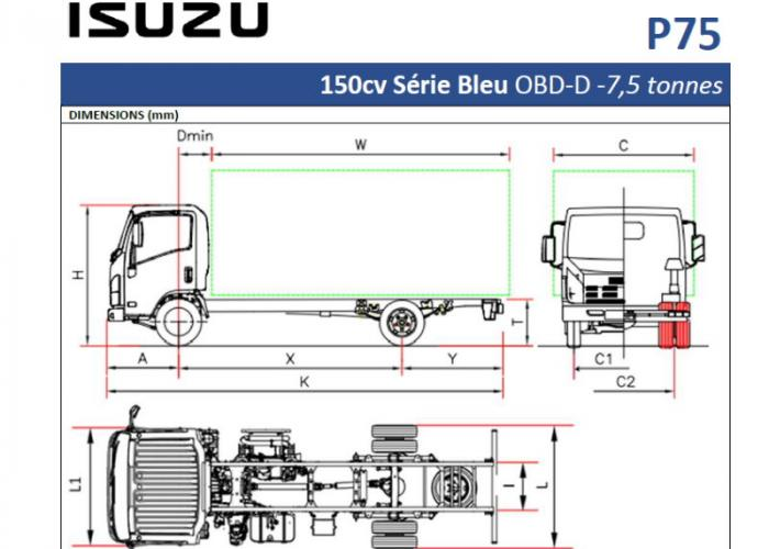 Catalogue Isuzu P75 150cv