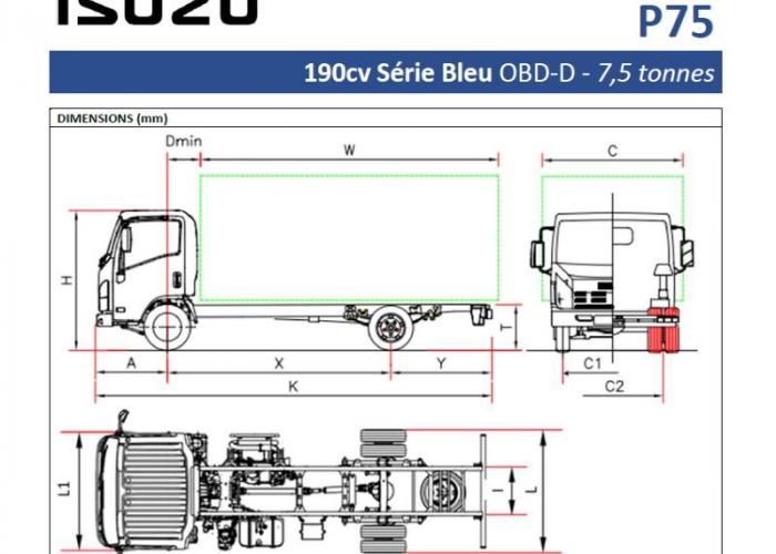 Catalogue Isuzu P75 190cv