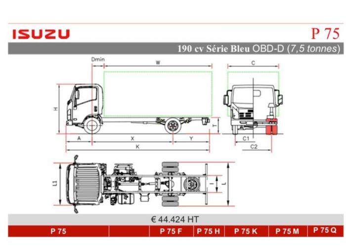 Catalogue Isuzu P75 190cv
