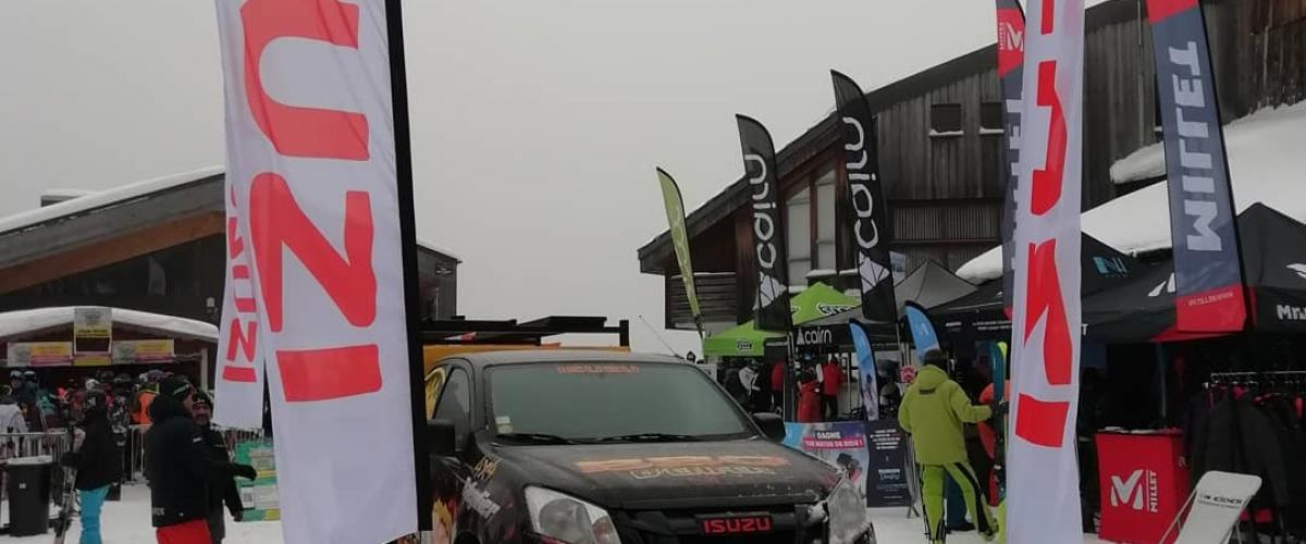 Isuzu at Rockon Snowboard Tour avec Balleydier4x4